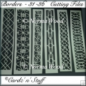 Borders - 31 - 36 DXF, GSD & SVG Cutting Files