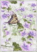 Butterfly Garden Backing Background Paper