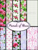 Cottage Chic Parade of Roses 10 Background Papers