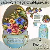 Easel Pyramage Card Birds1