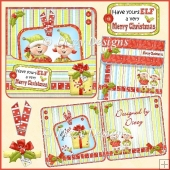 Christmas Elves - Pocket and Tag Card