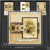 Vintage Lace Flower Beige Card Kit 1221