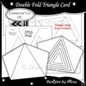 Double Fold Triangle Card Template