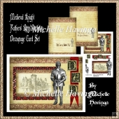 Medieval Knight Fathers Day/Birthday Decoupage Design