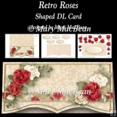 Retro Roses - Shaped DL Card