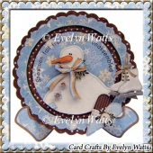 Snowmen Fall From Heaven Unassembled Christmas Plate Card Kit