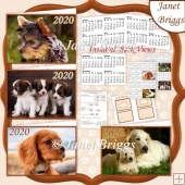 PUPPIES 2020 UK Easy Fold Purse Calendars