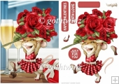 Mrs Valentine Rose Mouse With Matching Insert