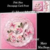 Pink Shoe Decoupage Card Front