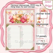 2020 Daily Planner IRIS & BUTTERFLIES Decoupage Kit