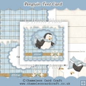 Penguin Tent Card
