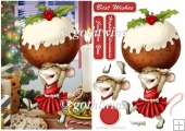 Mrs Christmas Pudding Mouse With Matching Insert