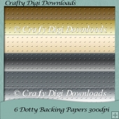 6 Dotty Embossed Papers