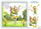 The Daffodil Flower Fairy - 7.5 x 7.5 Printable Card Topper