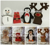 Set of 4 Festive Lollipop Holder Characters