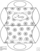 Aunty Floral Digitally Stamped Purse Pillow Box