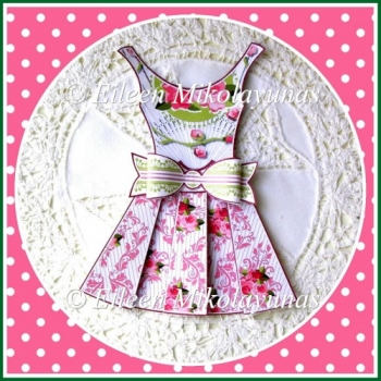 Shabby Roses Party Dress 3D Embellishment with Directions