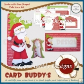 Santa with Tree Shaped Fold Card Kit
