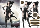 Gina Warrior Princess (Black) with Matching Insert