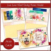Live, Love, Woof Sticky Notes Holder