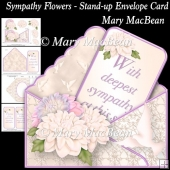 Sympathy Flowers - Stand-up Envelope Card