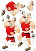 Get Fit Dude Christmas Decoupage Sheet