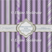 Purple Selection Set One - Ten 12 x12 Backing Papers PU 300 dpi