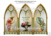 Beautiful Floral Hats & A Triple Gothic Arch Folding Screen