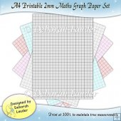 Printable Maths Resource A4 2mm Graph Paper
