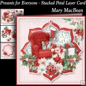 Presents for Everyone - Stacked Petal Layer Card