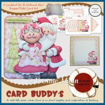 I Couldn't Do It Without Her! Shaped Fold Card Kit