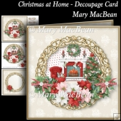 Christmas at Home - Decoupage Card