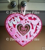 Decorative Baby Heart Topper for girl 6 layered file,