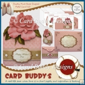Dusky Pink Rose Shaped Fold Card Kit