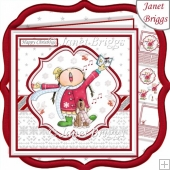 FA LA LA LA LA Christmas 7.5 Decoupage & Insert Card Kit