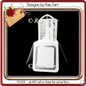 906 Wedding Box Card *Multiple MACHINE Formats*
