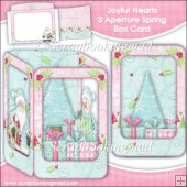 Joyful Hearts 3 Aperture Spring Box Card