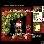 Santa German Shepherd Mini Kit