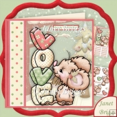 With Love at Christmouse 7.5 Christmas Decoupage Kit