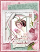 Incurable Romantic Feminine Collage for A4 Cards, Crafts