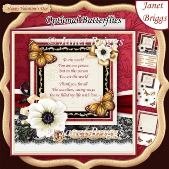 YOU ARE THE WORLD Verse 7.7 Romantic Decoupage & Insert Kit