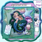 MERMAID Drink Like a Fish 7.5 Decoupage & Insert Kit
