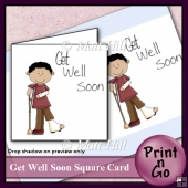 Get Well Soon Print-n-Go Card