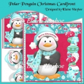 Polar Penguin Christmas Cardfront with Decoupage