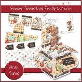 Studious Teddies Boys Pop Up Box Card