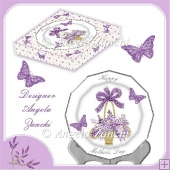 LAVENDER MOTHERS DAY PLATE WITH BOX