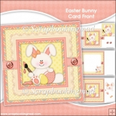 Easter Bunny Card Front & Insert Panel