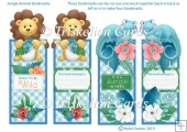 Jungle Animals Lion and Lizard Bookmarks
