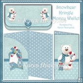Snowbear Kringle Money Wallet