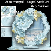 At the Waterfall - Shaped Easel Card